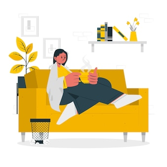 Person with a coldconcept illustration