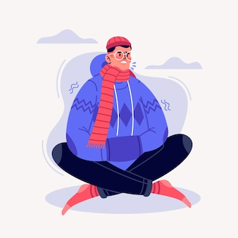 A person with a cold