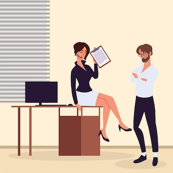 Personal assistants at office