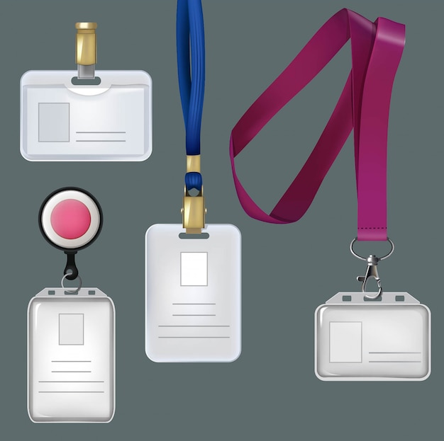 Personal badges, security plastic cards