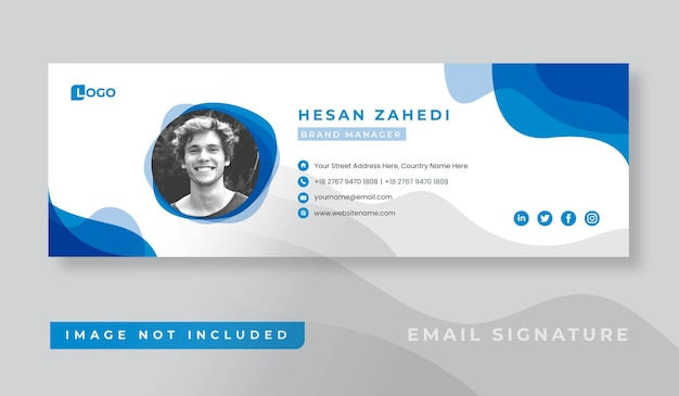 Personal business email signature template design
