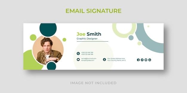 個人的なビジネスの現代の電子メール署名テンプレート