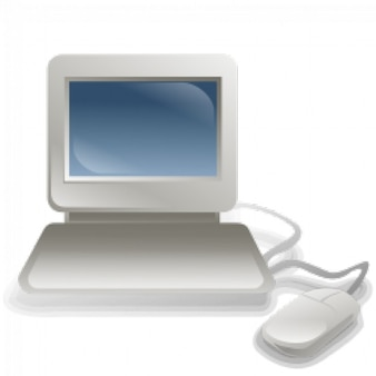 Personal computer plain vector