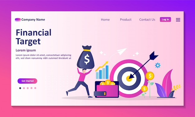 Personal credit score information and financial rating landing page