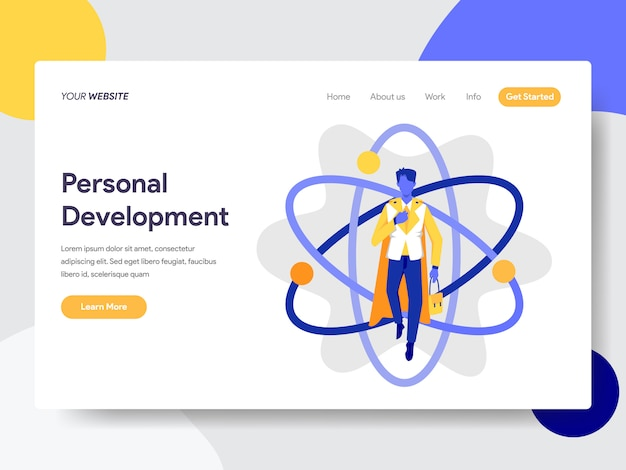 Personal development for web page