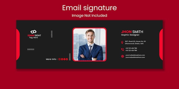 Personal email signature template design