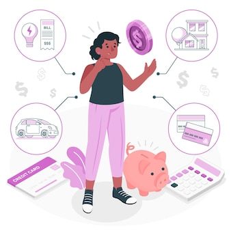 Personal finance concept illustration