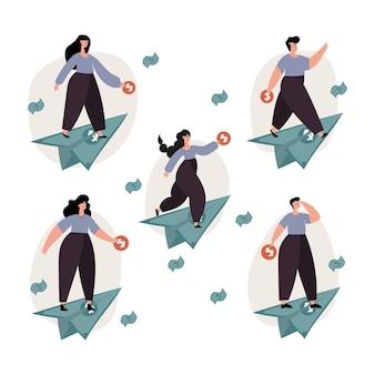 개인 금융, 투자, 개인 자본, 금융 성장 개념.