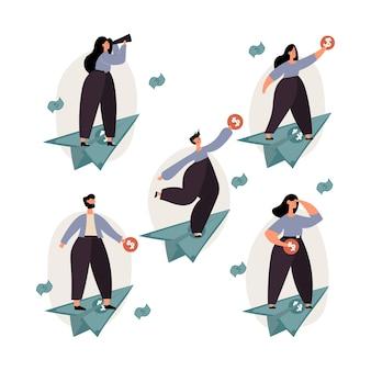 개인 재정, 개인 자본, 재정 목표, 성장 개념.