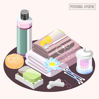 Personal hygiene elements collection