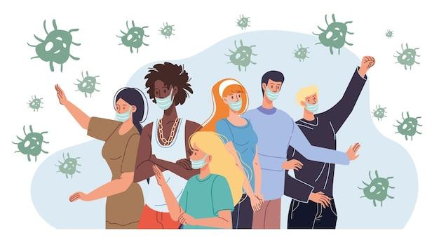 개인 위생 바이러스 성 호흡기 감염 개념