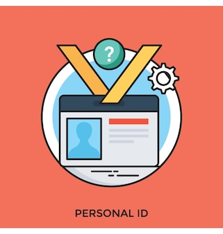 Personal id flat vector icon