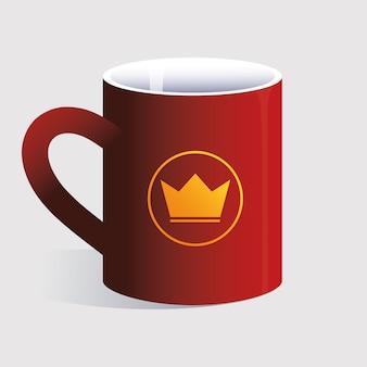 Personal mug, identity brand on white background illustration