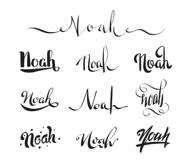 Personal name tattoo noah