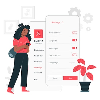 Personal settings concept illustration