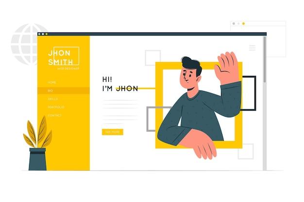 Personal site concept illustration