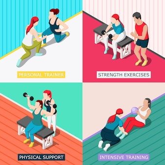 Personal sport trainer  concept