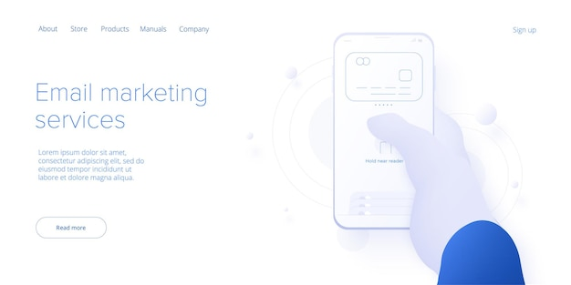 Personal virtual assistant concept in isometric