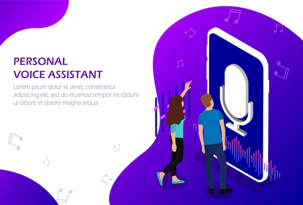 Personal voice assistant. voice recognition.