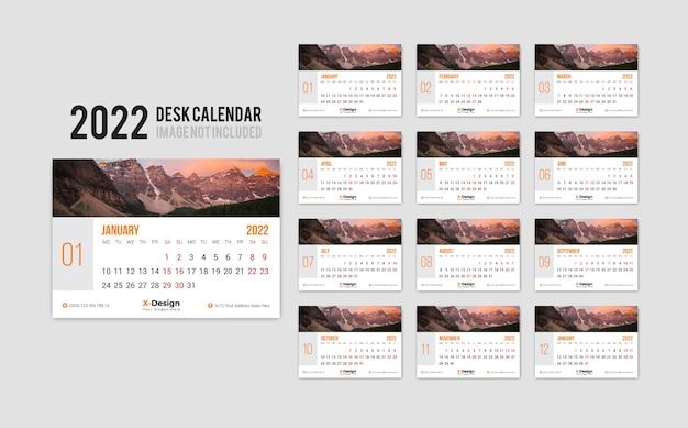 Personalised desk calendar 2022