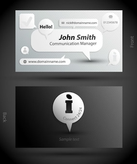 Personalized card social media style vector