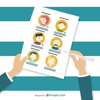 Personnel selection cartoon Free Vector
