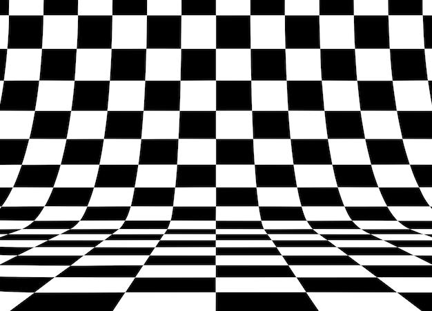 パースペクティブ市松模様の正方形の背景。