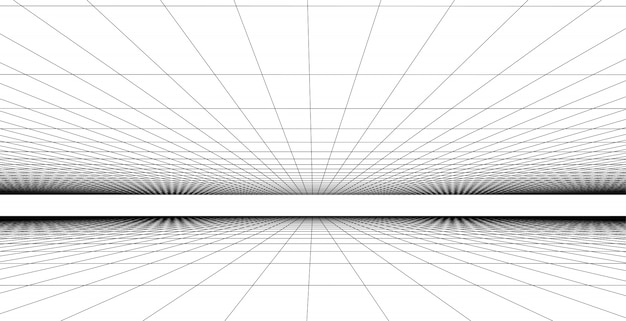 Perspective grid background   illustration, network connection concept