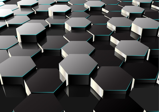 Perspective hexagonal background