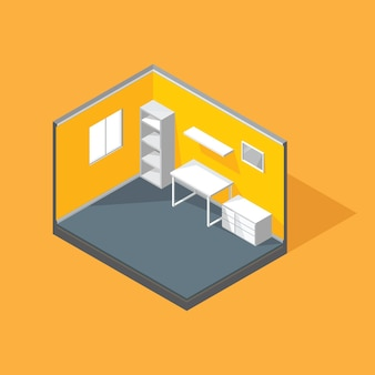 Перспективный вектор интерьера для украшения современного дизайна