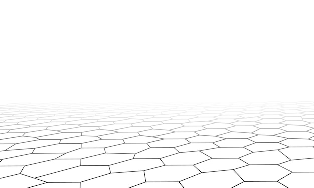 Perspective low poly hexagonal background. elegant design for wallpapers.