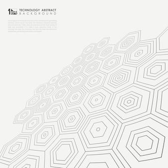 Perspective of pentagonal pattern