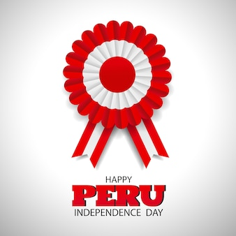Peru independence day. cockade national symbol of peru.