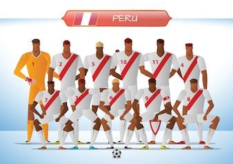 Peru National Football Team for International Tournament
