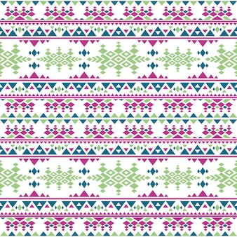 Peruvian aztec vector seamless pattern. boho style mexican indigenous repetitive texture