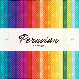 Peruvian traditional colorful pattern
