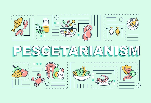ペスカタリアニズムの単語の概念のバナー