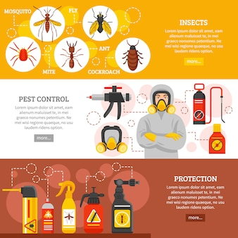 Pest control horizontal banners