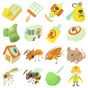 Pest control terminate icons set