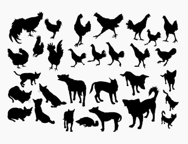 Силуэт животных животных