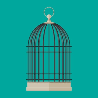 Домашняя птица цилиндрическая металлическая клетка