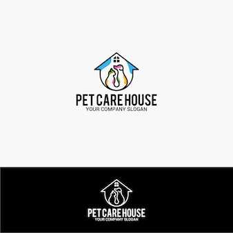 Pet care house logo