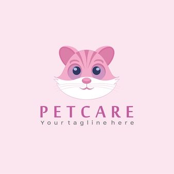 Логотип pet care, логотип для кошек