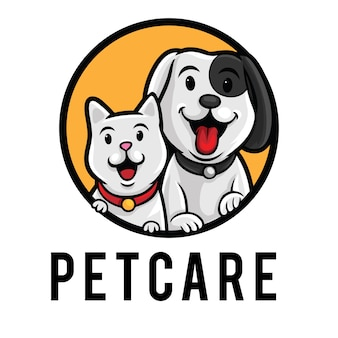 Pet care logo mascot template