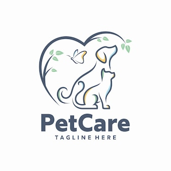 Pet care logo template