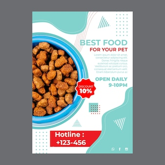 Pet food a5 flyer template with photo