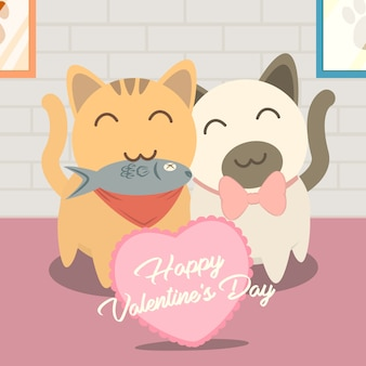 Pet greeting valentine love