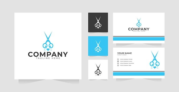 Pet grooming logo design inspiration and business card