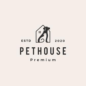 Pet house dog cat  vintage logo