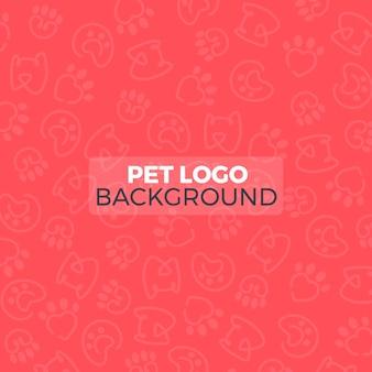 Pet logo pattern background